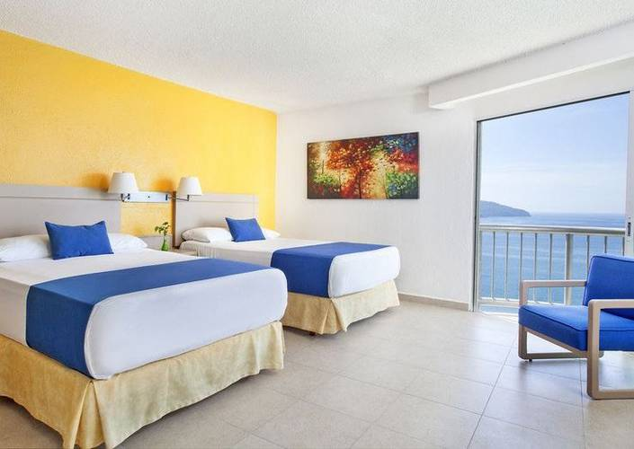 Standard room with a sea view calinda beach acapulco hotel